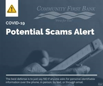 Potential Scam Alert: Don't give out personal info over the phone.
