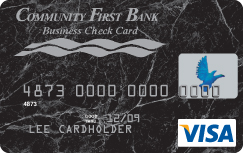 Business check cards community first bank business check card colourmoves